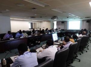 国連アジア太平洋統計研修所での研修の様子